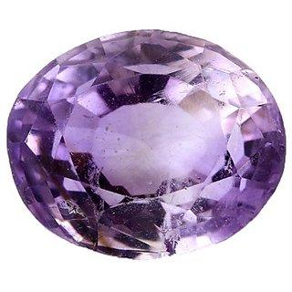 CEYLONMINE Purple Amethyst stone unheated & untreated Amethyst gemstone 8.25 ratti for unisex
