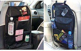 Car Back Seats Multi-functional Universal Pockets Storage Organiser Bag, Standard black