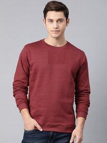 Men's Maroon Hood plain hoodies