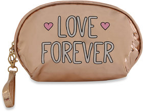 NFI essentials Flashy Cosmetics Pouch  Vanity Jewellery Pouch  Stationery Pencil Case  Makeup Bag (Y75 Gold)