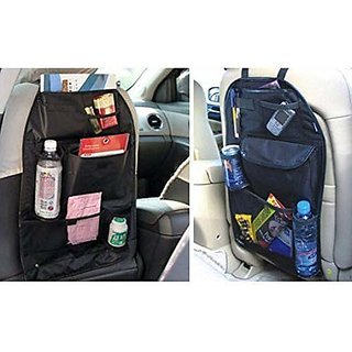 Car Back Seats Multi-Functional Universal Pockets Storage Organiser Bag, Standard Black