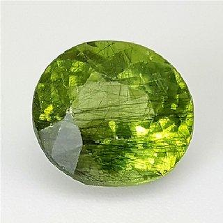 Green Peridot stone original & unheated gemstone 7.00 ratti green peridot gemstone for unisex by Ceylonmine