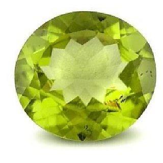 original stone green peridot 6.00 ratti unheated Peridot semi precious gemstone for unisex by Ceylonmine