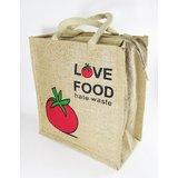 LivEZY Jute Lunch Bag Hand Bag Multi Purpose Tote Bag Eco Friendly, Reusable Gift Return Gift Tomato Printed