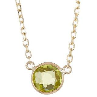 Ceylonmine 7.00 ratti green green peridot pendant original & natural Peridot locket for unisex