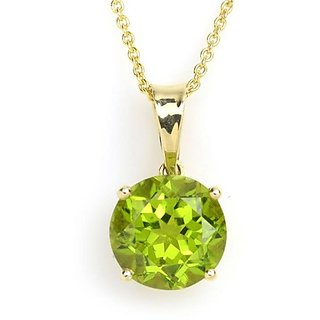 Green Peridot locket original & unheated pendant 7.00 ratti green peridot pendant for unisex by Ceylonmine