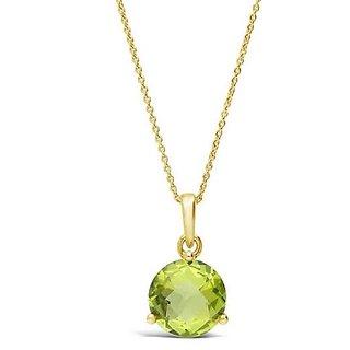 original locket green peridot 6.00 ratti unheated Peridot semi precious pendant for unisex by Ceylonmine