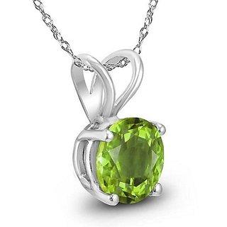natural Peridot locket 6.00 ratti original & lab certified pendant green green peridot for unisex by Ceylonmine
