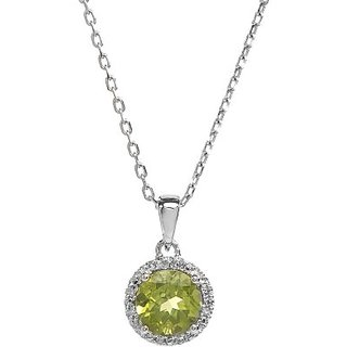 7.00 ratti Peridot pendant natural & lab certified green peridot locket for astrological purpose