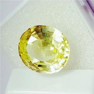 Yellow Sapphire stone unheated & untreated pushkaraj gemstone 9.25 ratti for unisex by Ceylonmine