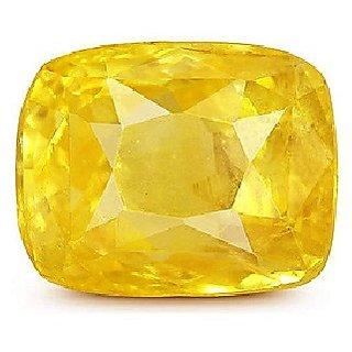 Ceylonmine 6.5 ratti green pushkaraj gemstone original & natural Yellow Sapphire stone for unisex