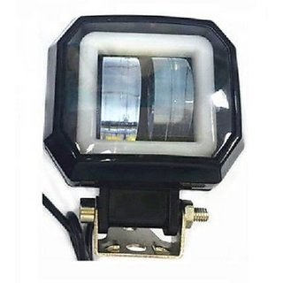 RA 2 LED Square Shape Headlight Lamp Universal Waterproof Off Road Driving CREE LED Fog Light For Bikes and Cars