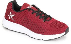 REFOAM Men's MAROON & BLACK FLYKNIT Running Sports Shoe