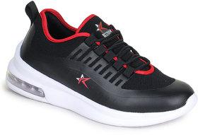 REFOAM Men's BLACK & RED FLYKNIT Casual Shoe