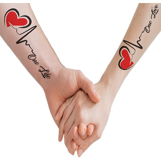 voorkoms Love Heart Line Body Temporary Tattoo Waterproof For Girls Men Women V-297