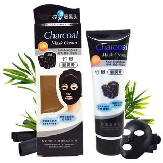 Yash HR Charcoal Mask Blackhead Remover Mask, Suction Black Mask Purifying Blackhead Charcoal Facial Kit 130 gm