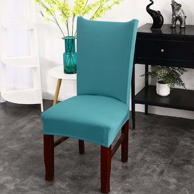 House of Quirk Elastic Chair Cover Stretch Removable Washable Short Dining Chair Cover Protector Seat Slipcover - Green