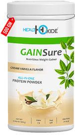 HealthOxide GAINSure Mass and Weight Gainer powder  500 gms (Cream Vanilla)