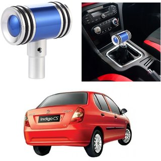 AutoRight Hammer Type Aluminum Handle Gear Shift Knob Blue For Tata Indigo CS