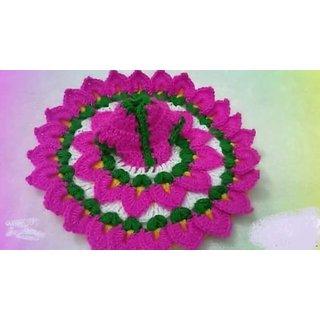 Radhe Sham Woolen Krishna Ladoo Gopal cap bed  Dress Lotus Style Laddu Gopal poshak Winter Thakur ji Dress  Handmade   A Cute Dress for Your Krishna Dress Size 0 no.