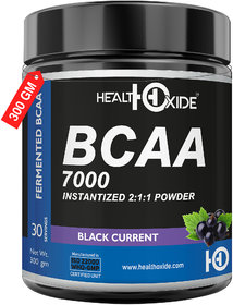 HealthOxide BCAA 7000 Amino Acid INSTANTIZED 211 POWDER - 300 gm (BLACK CURRENT)