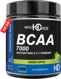 HealthOxide BCAA 7000 Amino Acid INSTANTIZED 211 POWDER - 300 gm (GREEN APPLE)