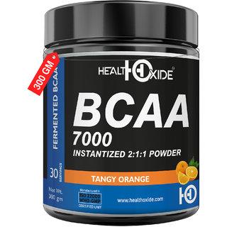 HealtOxide BCAA 7000 Amino Acid INSTANTIZED 211 POWDER - 300 gm (ORANGE)