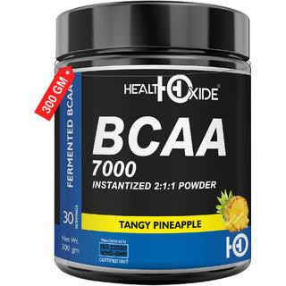HealthOxide BCAA 7000 Amino Acid INSTANTIZED 211 POWDER - 300 gm (PINEAPPLE)