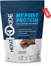 HealthOxide My First Protein with whey, casein  pea, Chocolate Whey Protein  (1 kg, Chocolate)