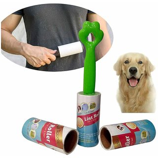 Hsj Dog and Cat Hair Lint Roller Brush Reusable Sticky Picker Cleaner Roller Easy-Tear Sheets- 38 Sheets