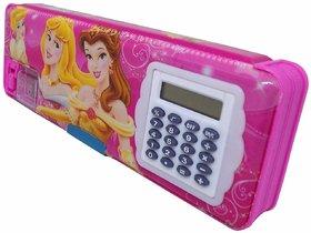 ASU Cartoon Design Pencil Box with Calculator for Kids, Multicolored, Pencil Boxes