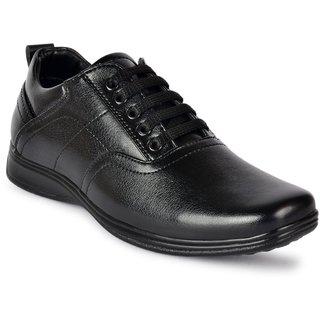 D.S.P. Men's Black Original Synthetic Leather Formal Shoes