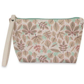 NFI essentials Fern Printed Cosmetics Pouch Vanity Jewellery Pouch Stationery Pencil Case Travel Pouch  Y41  Utility Bags