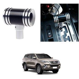 AutoRight Hammer Type Aluminum Handle Gear Shift Knob Black For Toyota Fortuner