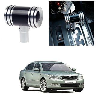 AutoRight Hammer Type Aluminum Handle Gear Shift Knob Black For Skoda Laura