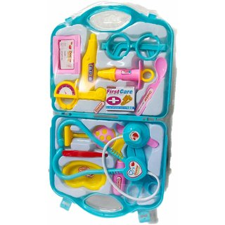 ASU Overseas Little Doctor Play Set Tools for Kids Blue