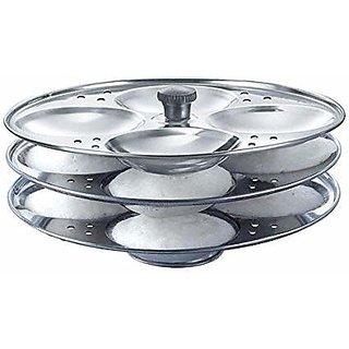 SHEFFIELD CLASSIC Stainelss Steel Idli Stand (3 Plates, 12 Idlis)