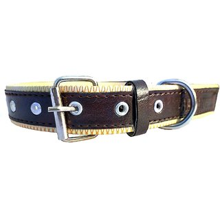 Forever99 Pet Shop Faux Lather  Dog Collar Neck Belt for Small  Dogs (Brown)