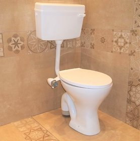 Ceramic Floor Mounted European Water Closet/Western Toilet With Jet System Commode