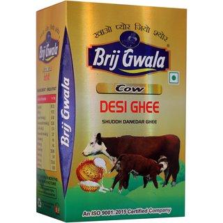 Brij Gwala Pure Cpw Desi Ghee 1 Ltr Tetra Pack