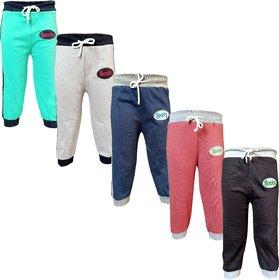 Jisha Boys Sports Track Pant Multicolor Set Of 5