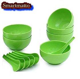 Smartmatto Soup Bowl Set Of 12Pcs (6 Bowls 6 Soup Spoons)