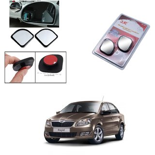 Autoright 3R Blind Spot Mirror, Shape Semi Round, Suitable Rear View Mirrors And Side Mirrors For Skoda Rapid
