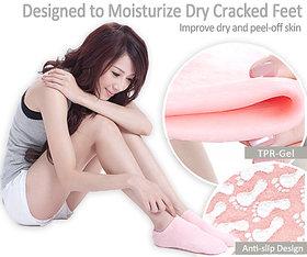 Importikah 2 Pcs Moisturize Skin Repair Cracked Moisturizing Treatment Gel Spa Socks