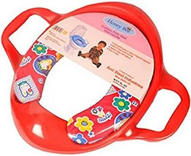 Shribossji Cushioned Baby Toilet Training Potty Seat With Handles (Red)
