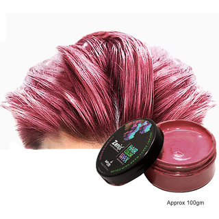 Zenix Temporary Hair Color Wax (Pack Of 1, Rose Gold)