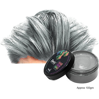 Zenix Temporary Hair Color Wax (Pack Of 1, Silver)
