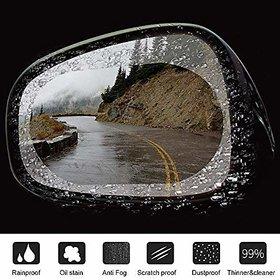Dy Anti Fog Film Rear View Mirror Waterproof Film 2 Pack Anti-Glare Rainproof Anti Dust Hd Nano Film Side Mirror Window