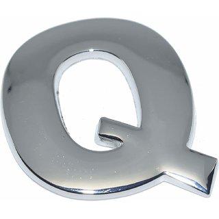 Online Mantra 3D Alphabet Letter ( Q ) Plastic Chrome 1 Pc ( Silver )
