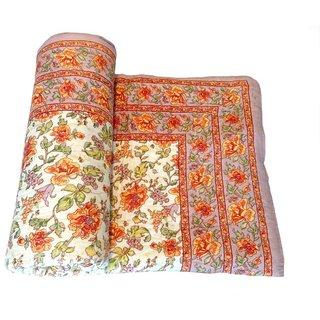 Jaipuri Razai Double Bed Cotton Jaipuri Razai Light Weight With Cotton Filling Traditional Jaipuri Razai/Comforter/Quilt /Jaipuri Rajai/Blanket/Ac Blanket
